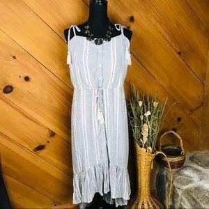 Charlotte Russe   Maxi Dress   Gray & White   XL